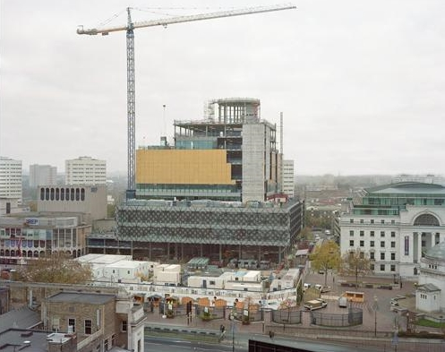 Michael Collins, Photograph showing the construction of the new Library of Birmingham shown in  Reference Works  exhibition, 2013