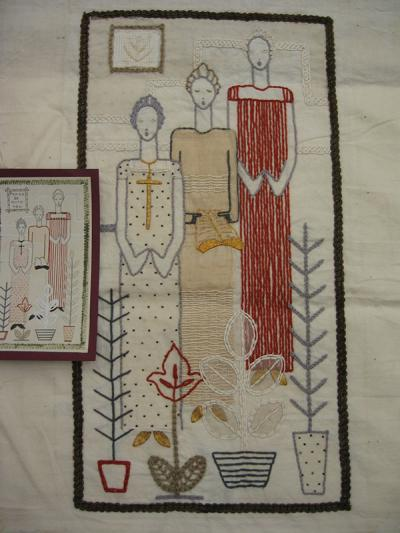 Dorothy Campbell Smith, Embroidery entitled 'Peace be with you', c.1940-45.