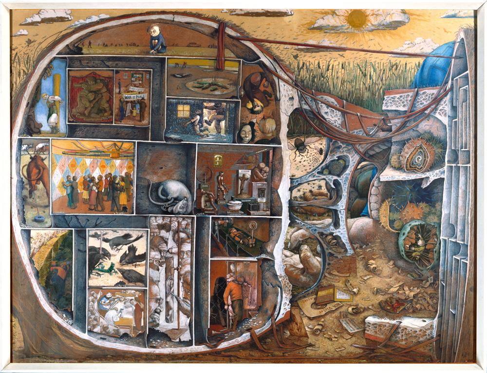 William Kurelek,  The Maze , 1953, Bethlem Hospital Collection.