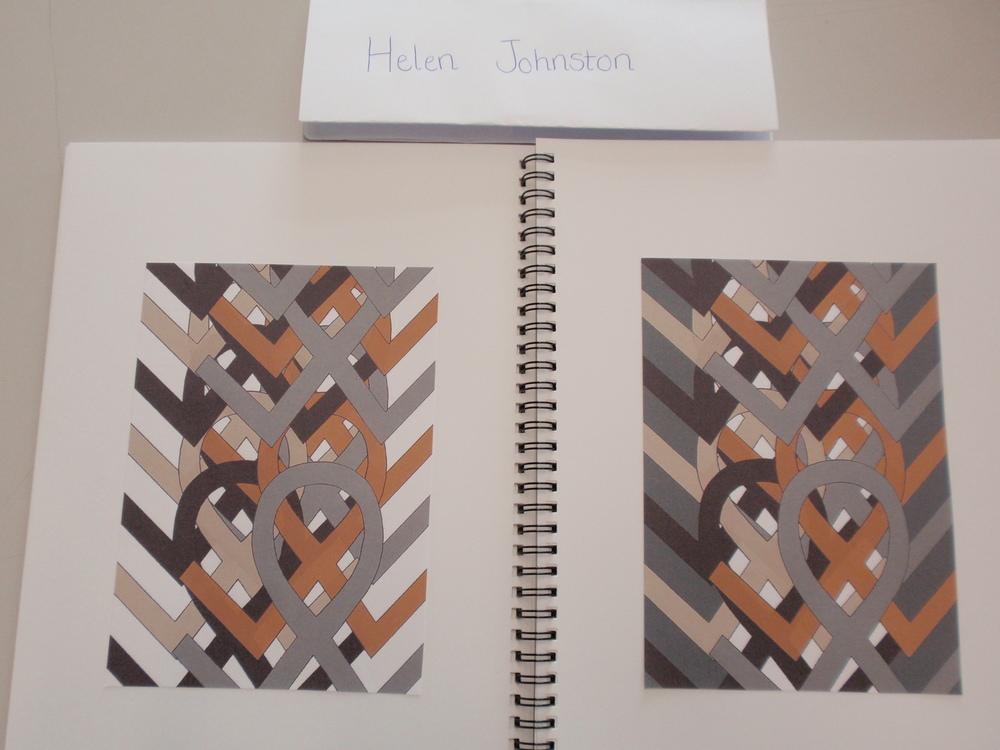 Helen Johnston, Textile design based on archival motif, 2016.