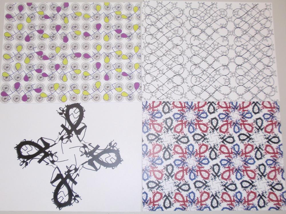 Katy Coughlan & Pirintha Jeyarajah, Textile design based on archival motif, 2016