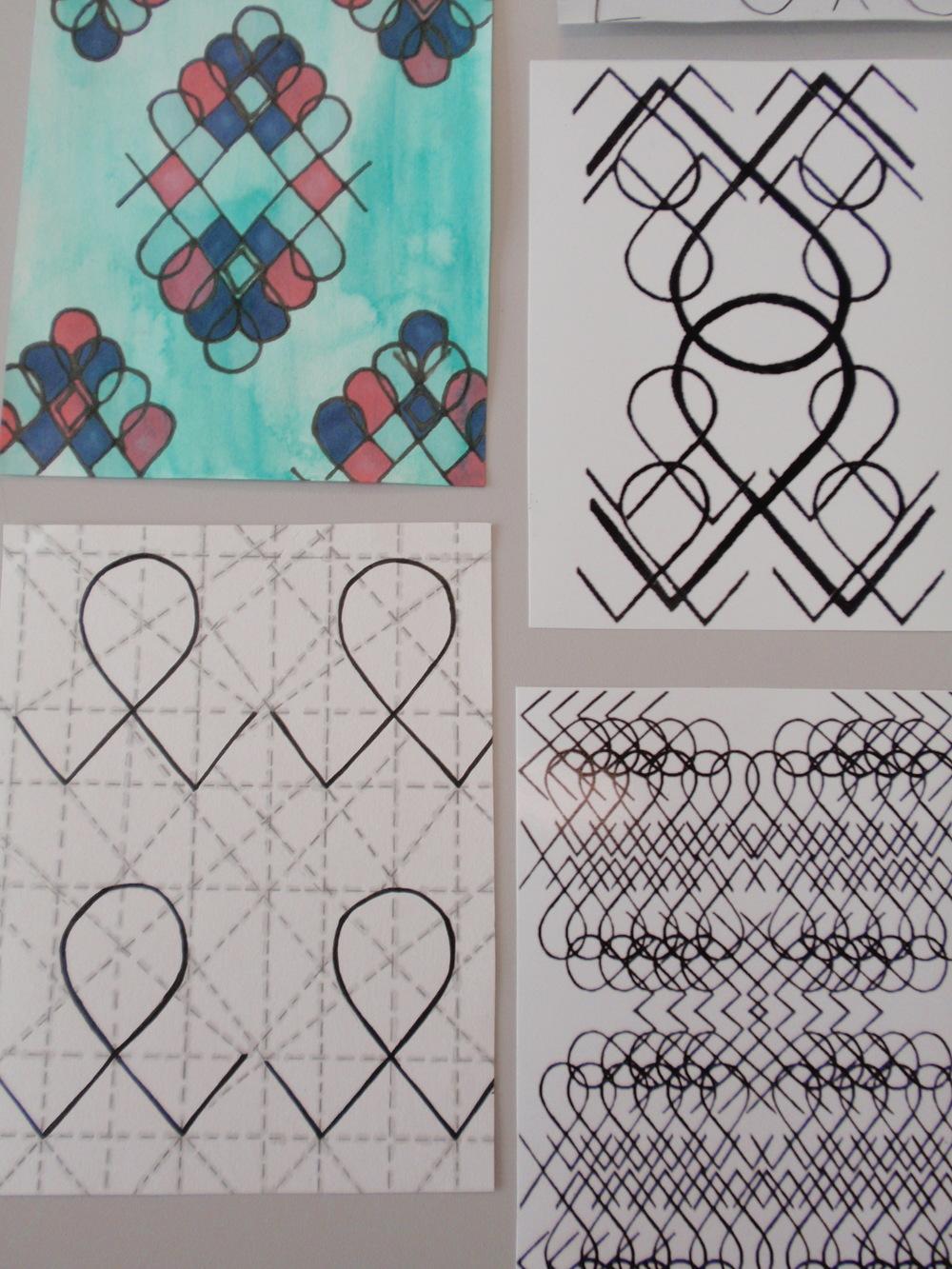 Natalie McComb, Textile design based on archival motif, 2016