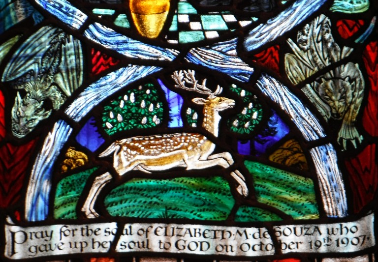 Margaret Agnes Rope, detail from  window in Shrewsbury's Roman Catholic Cathedral, 1910-11
