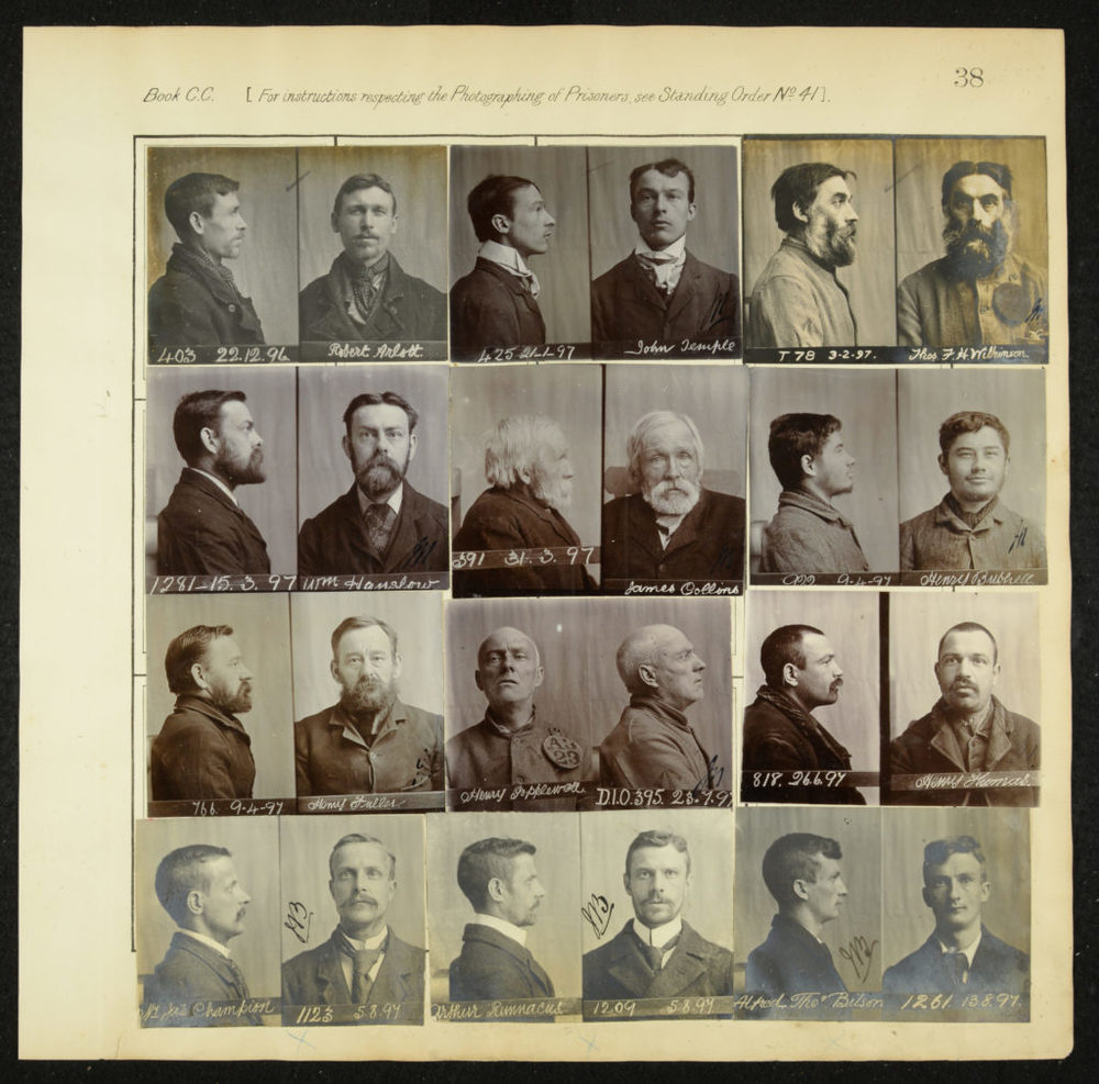 Photographs of prisoners on review and discharge, 1890s, Berkshire Record Office