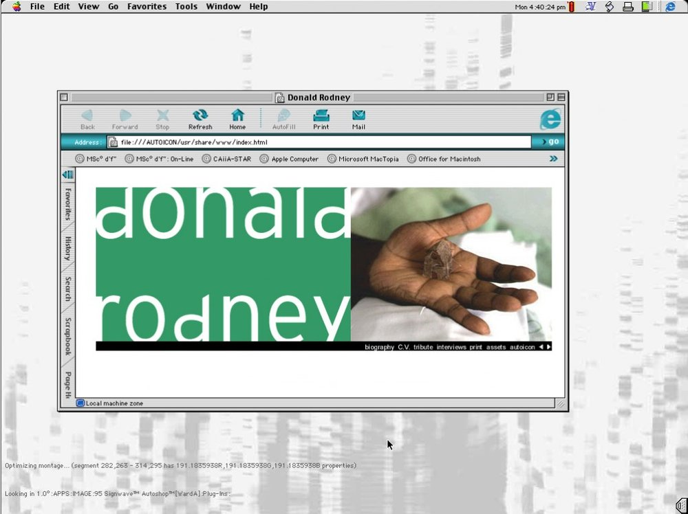Re-imaging Donald Rodney — Archives and Creative Practice