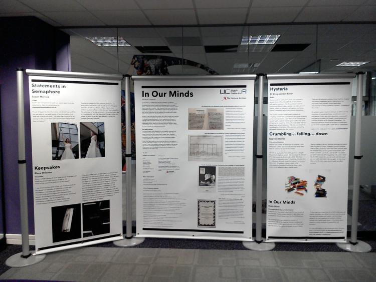 Display panel from the In Our Minds touring exhibition developed in partnership with the National Archives, 2016.