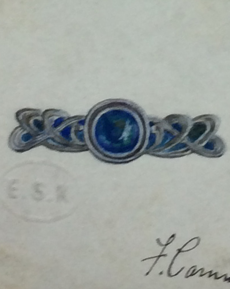 Florence Camm, Design for jewellery, 1901.