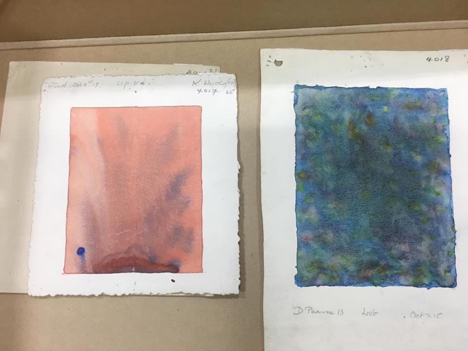 Mind pictures by K Hyde, aged 16 (on left, 1918) and D. Pearce, aged 13 (on right, 1915), BCU Art & Design Archives