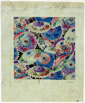 Winifred Mold, Design for a printed textile for the Silver Studio, 1919.