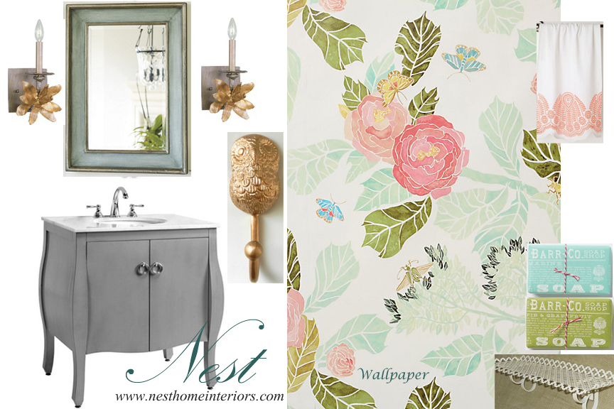 Flirty Powder Room