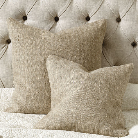 Herringbone Jute pillow