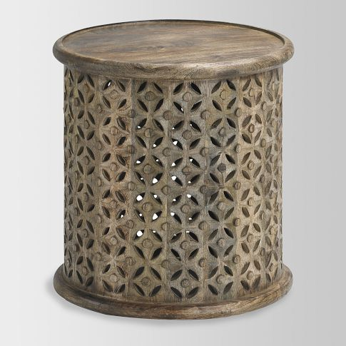 Carved Wood side table
