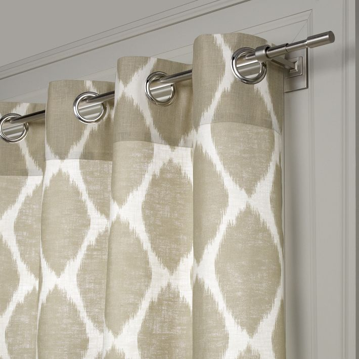 Ikat Ogee Linen Curtain from West Elm