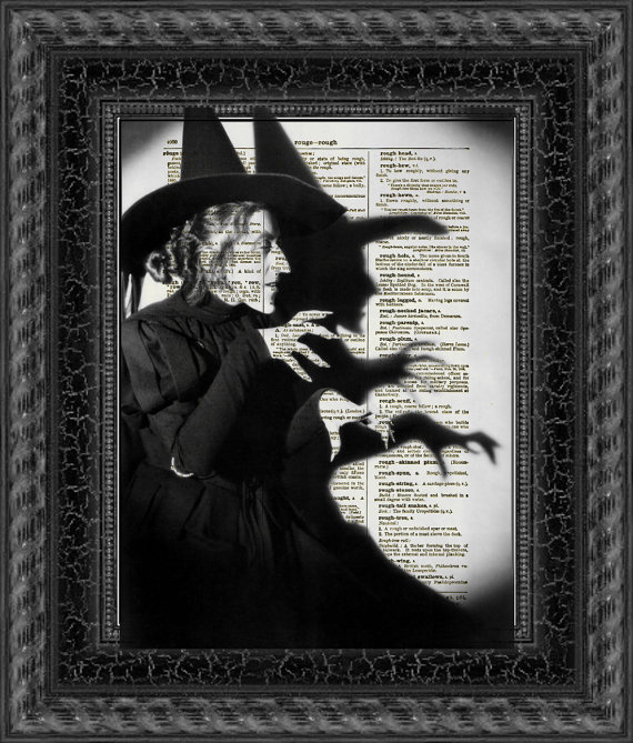 Wicked Witch Dictionary Print