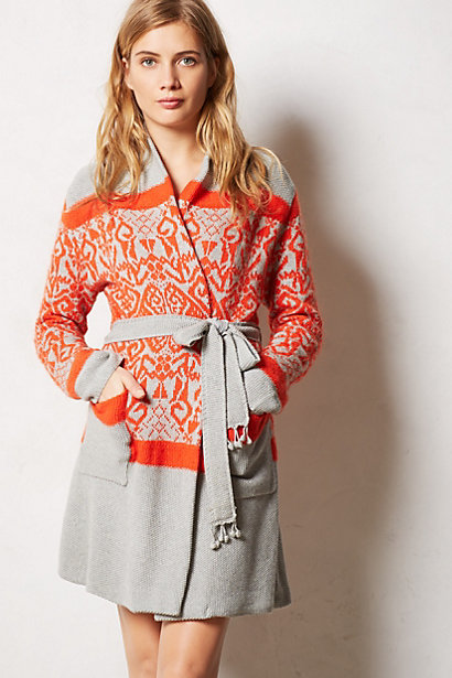 Intarsia Sweater Robe from Anthropologie