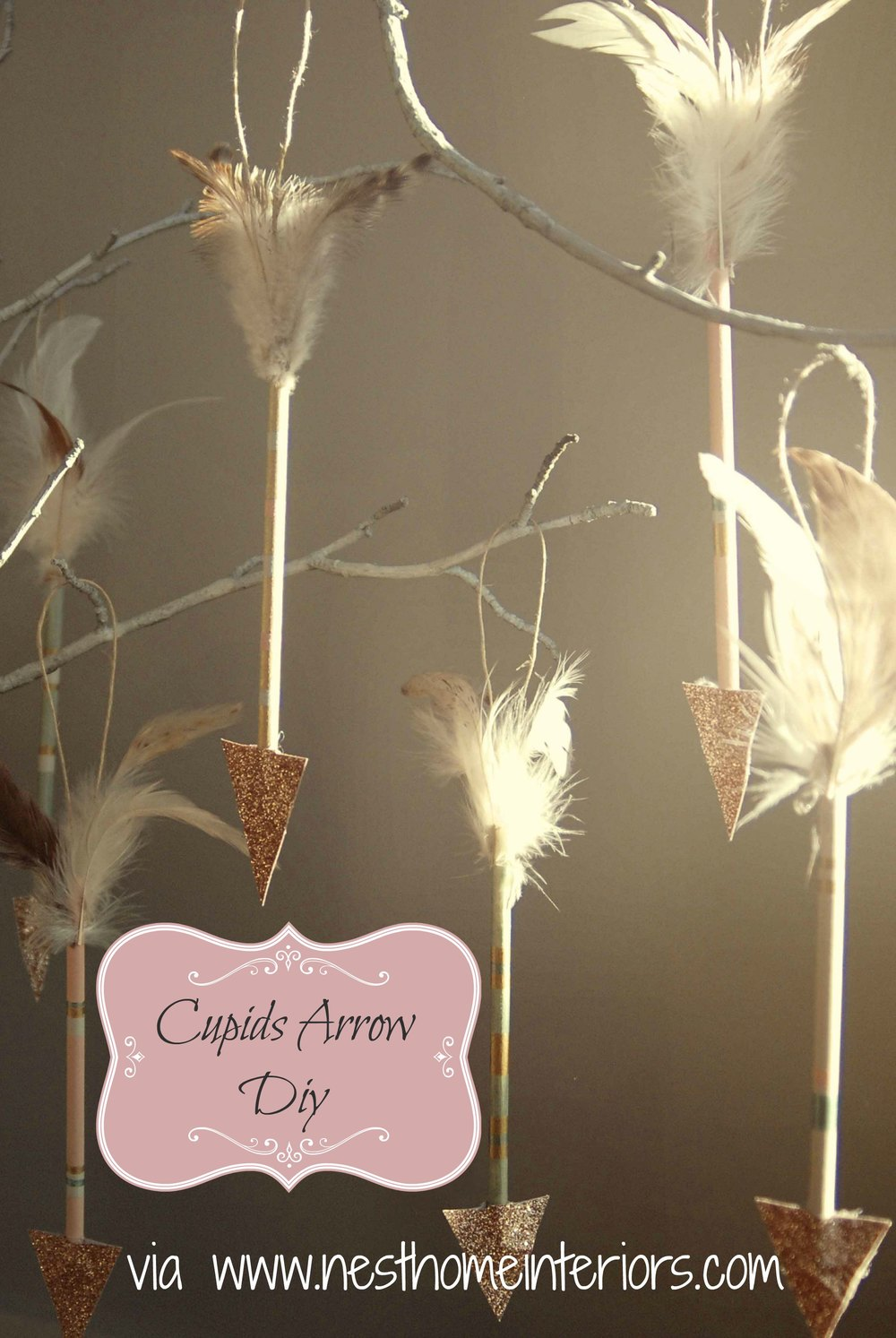 hanging cupids arrows
