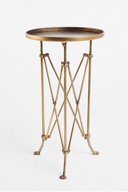Metal Accordian Side Table $78.00