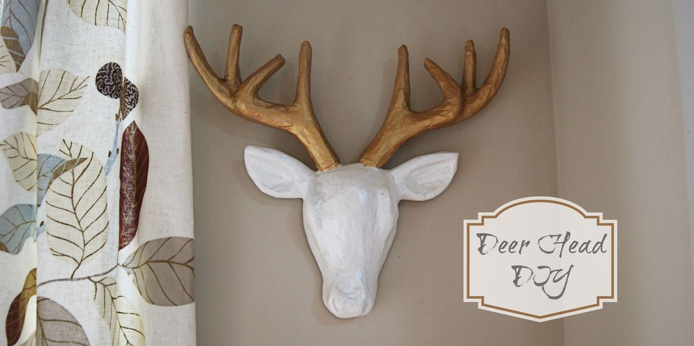 papier mache deer head via nest