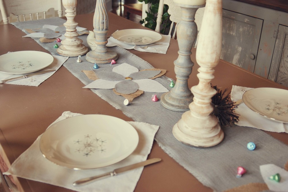 burlap flower runner via Nest