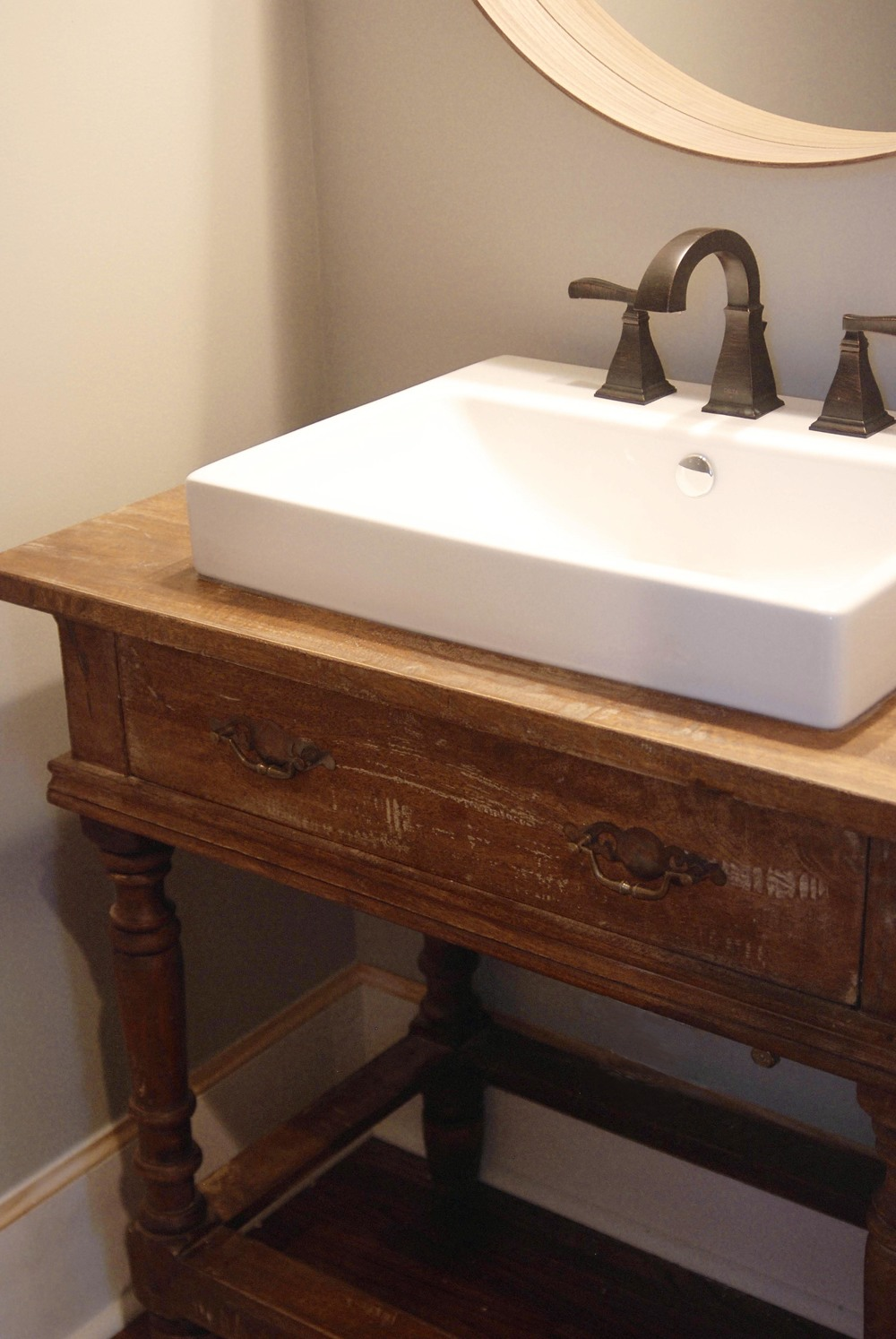 custom sink by Drum Homes