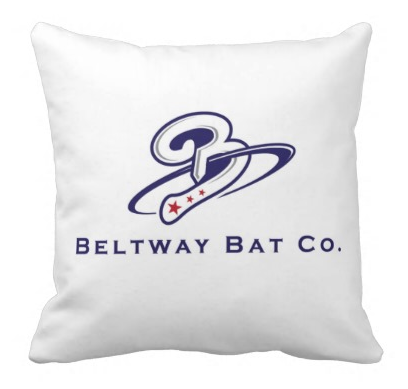 Beltway Bat 'Swing Monumentally' Throw Pillow