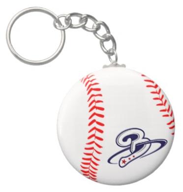 Beltway Bat 'Baseball Laces' Keychain