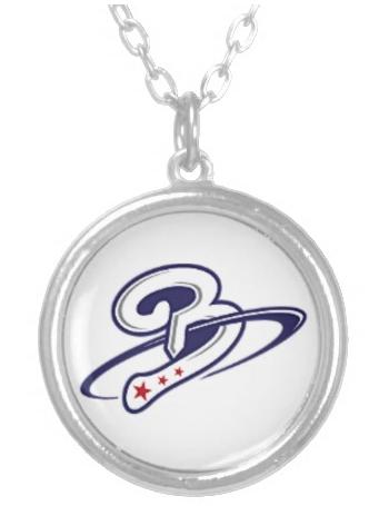 Beltway Bat Sterling Silver Round Logo Necklace