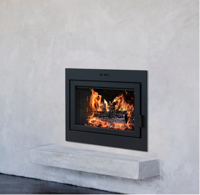 Zero clearance scotts fireplace for Prefab fireplace inserts wood burning