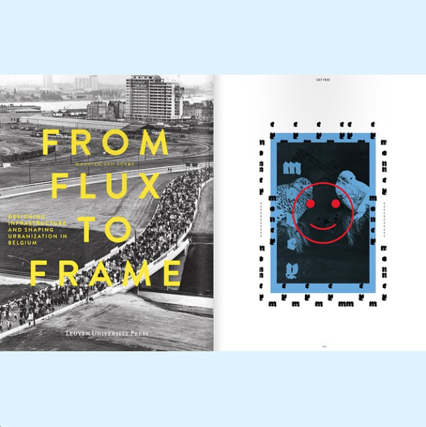 Left: book cover From Flux to Frame. Right: 'Money' illustration collab w/ Tyler Spangler.