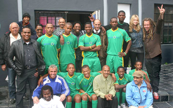 The South African team, Homeless World Cup, with Justin Zietsman (front left, standing) of A24 Group. The team have now left for Milan. We wish them well!