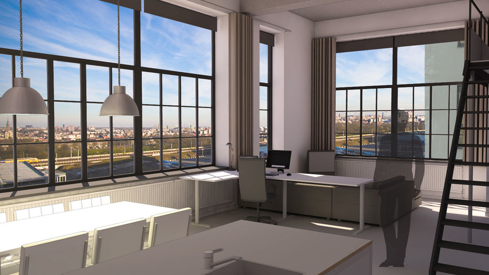 loft interieur excellent loft interieur met bakstenen muur en koffietafel u foto de mmedia with. Black Bedroom Furniture Sets. Home Design Ideas