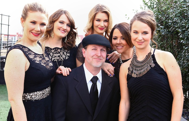 Me and Della Mae in LA for the 2014 GRAMMYs.