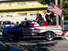 Party on, boys. And God Bless America.  Photo Credit: Josh Szypa