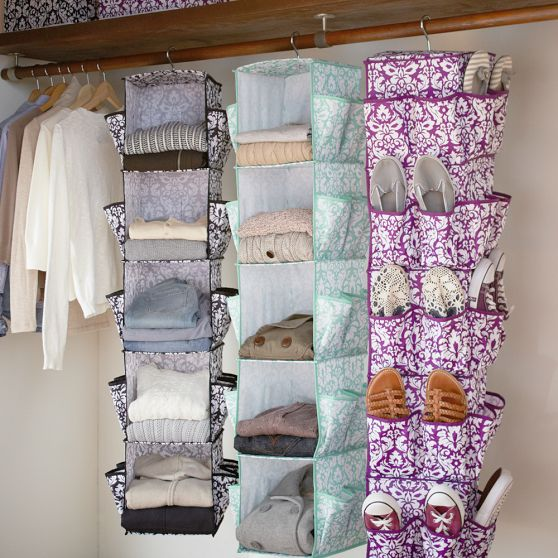 These closet organizers from Pottery Barn are a great space saver.