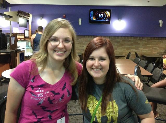 Nicole and I meeting at Sneak Peek day. Photo Credit: Amanda Gasior