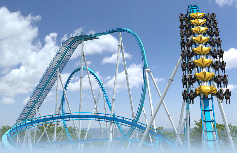Cedar Point's newest ride, The Gatekeeper (via neogaf.com).
