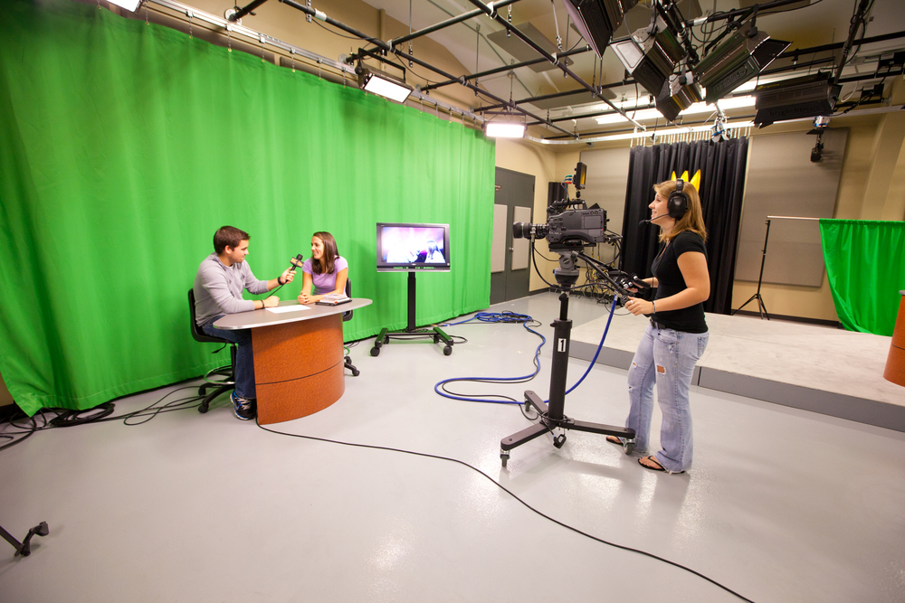 Students in action using the renovated Rush Soundstage. Photo Credit: Matt Gaidica
