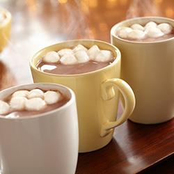 Okay, I know I said I wasn't going to use hot chocolate, but it srsly is a great idea. Benefits: it's chocolate, it gives you a quick caffeine pick-me-up, there's marshmallows involved and it warms you up almost instantly. Honorable mentions: tea, coffee.