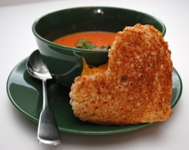 Bonus: tomato soup & grilled cheese warms you up on these cold winter days!