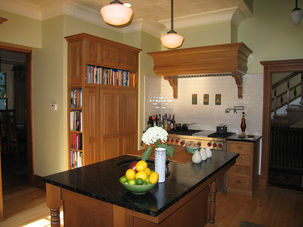 "Victorian Kitchen Renovation Featured in ""This Old House"" and ""Kitchens and Baths,"" Oak Park"