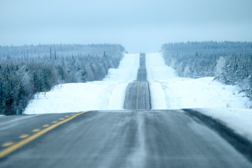 Highway 3 enroute to Fort Providence from Yellowknife