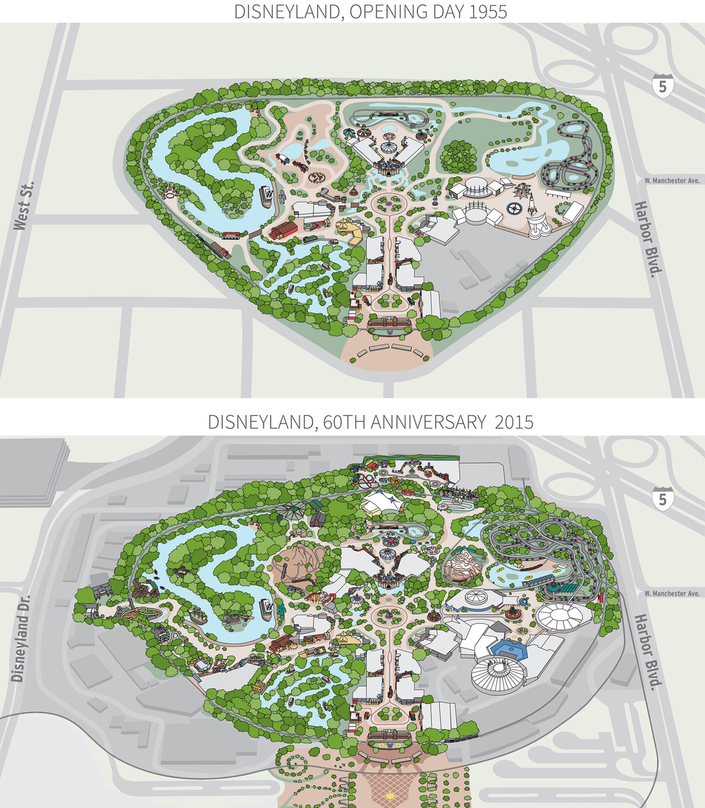 Interactive Disneyland map