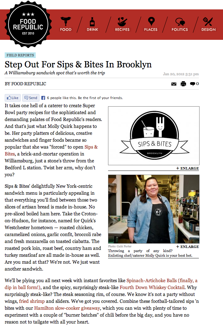 Food Republic  Step Out For Sips & Bites In Brooklyn