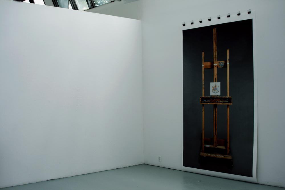 """Digital Print, 60"""" W x 102"""" H. Banff Centre, Canada."""