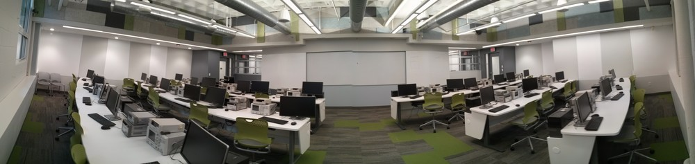 Panorama of Classroom C (poorly stitched, but you get the idea)