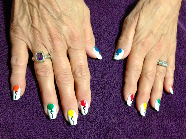 Balloon nail art by Rene