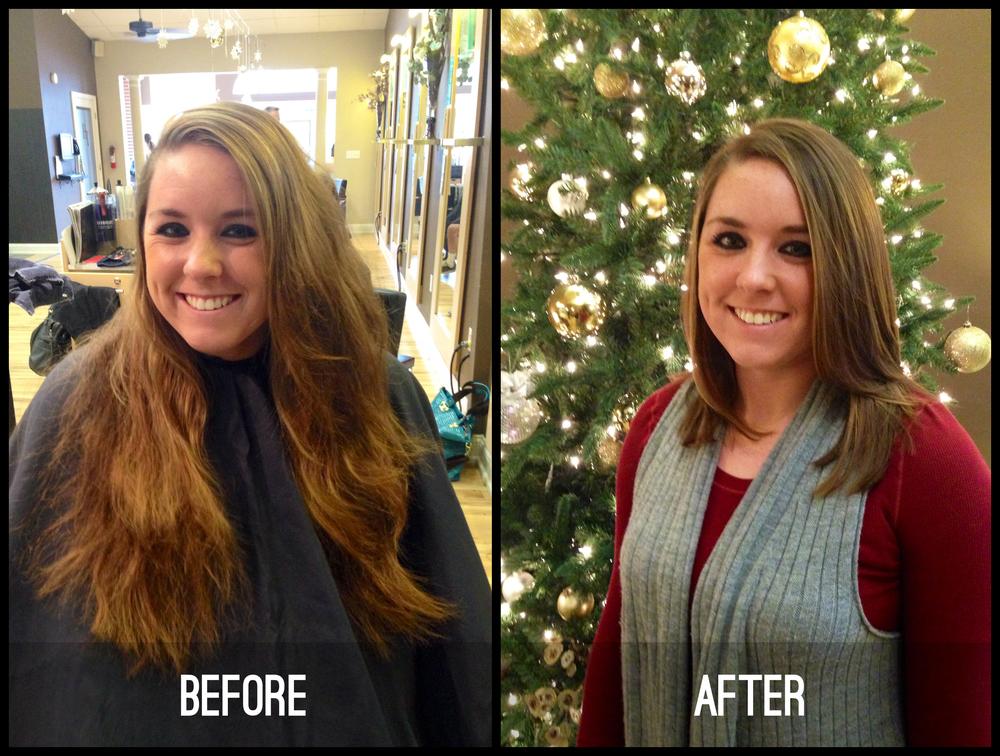 Before & after by Advanced Designer Sam