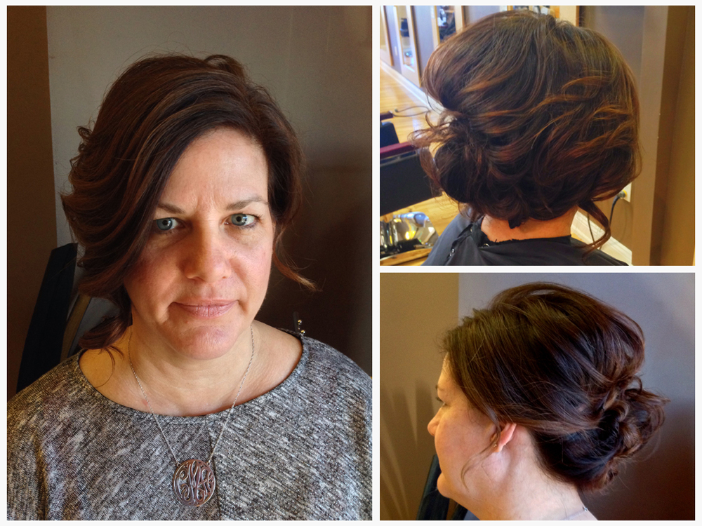 New Year's Eve updo by Andrea