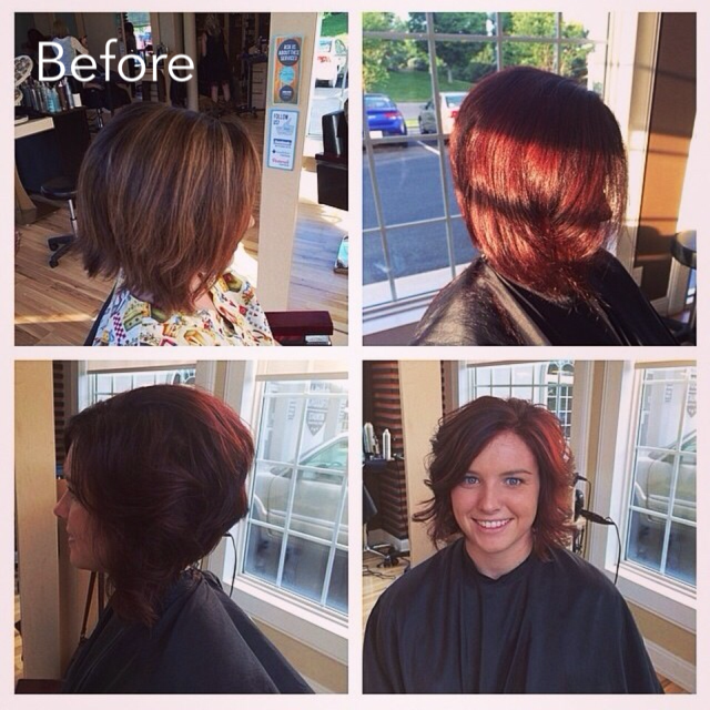 Short Hairstyle & Color