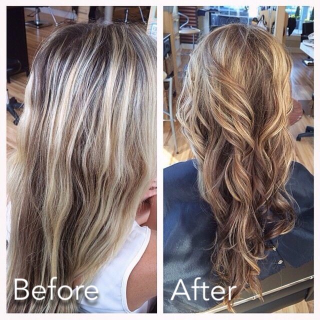 Hair Color Before & After